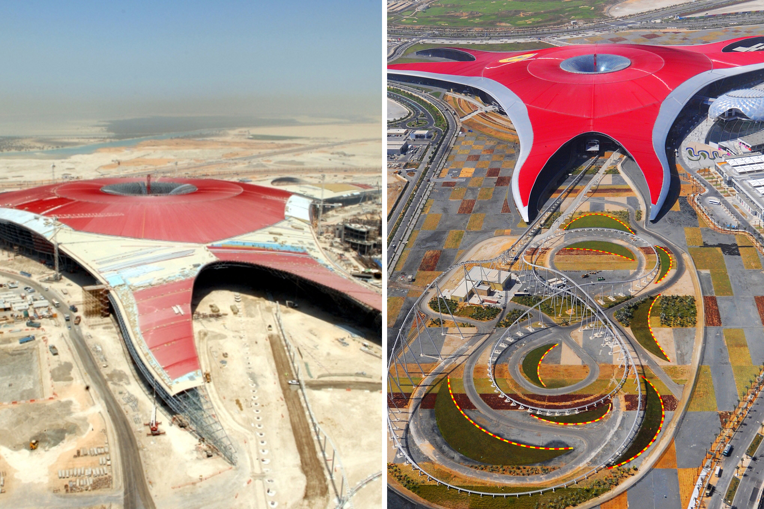 Incredible Pictures Of Ferrari World Abu Dhabi Then And Now Attractions Time Out Abu Dhabi
