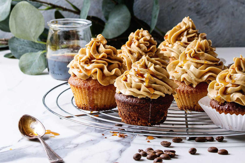 Coffee and caramel cupcakes