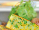 Frittata (Lemon Tree, Holiday Inn)Ingredients:1 large potato1 large white onionFresh spinach (optional)10 eggs½ cup of Parmesan cheeseSalt and pepperVirgin olive oilMethod:1 Peel and chop the potato into 1cm cubes, boil in seasoned water until just cooked, leave to drain well.2 Peel and chop the onion into 1cm cubes, sauté in virgin olive oil and seasoning until they're translucent, place on kitchen paper to remove excess oil.3 Whisk the eggs and season well. Grate the Parmesan and de-stalk then finely shred the spinach, but don't mix just yet.4 Heat a tablespoon of oil in a non-stick pan over a medium heat. Then add the still warm onions and potato, season well and stir.5 Add the shredded spinach, the egg mix and the Parmesan and give a little mix, but do not stir or the eggs will catch and stick.6 Use the spatula to tease the egg away from the sides. After 15 minutes of cooking, place a plate or flat pan lid on top of the pan and while holding the lid and pan securely, turn the whole thing over.7 Slide the frittata back into the pan to cook the top for five minutes more. To check if cooked, insert a knife in the middle and if it comes out clean then it's done. Eat directly or once cooled, place in the chiller for up to two days.