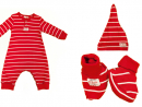 Sticky fudge baby set, including hat and bootiesDhs115
