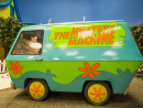 The Mystery Machine is parked up in Cartoon Junction at Warner Bros. World