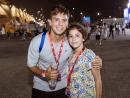 Gabriel Almeida and Sophia Keane