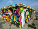 Check out the largest mural in the region More and more, amazing artwork is being commissioned across the UAE. Located at Marsha Al Bateen, Brazilian artist Eduardo Kobra has created a stunning new mural that celebrates diversity, tolerance and respect. The bold public artwork features the faces of people from different nationalities and backgrounds in front of bright colours and shapes in a kaleidoscopic theme. This is the first in a range of public artworks planned for the city to be undertaken in the next few years by local and international artists. We think its amazing and can't wait to see more art dotted around the city