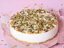 Umm Ali Cheesecake, Dhs240 Umm Ali is arguably the Middle East's most famous dessert but this version takes the much-loved pud to another level. This eight-inch no-bake cheesecake is infused with the floral flavours of Umm Ali and generously sprinkled with dried fruits and nuts.