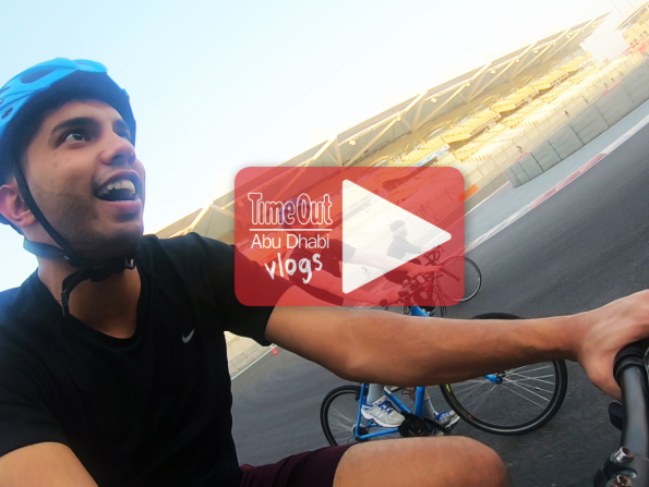 Time Out Abu Dhabi tries cycling at Yas Marina Circuit