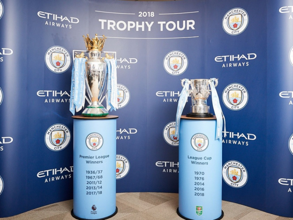 Have your photo taken with the Premier League trophy in Abu Dhabi