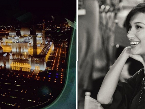 Bella Hadid announces arrival in Abu Dhabi with stunning aerial snap
