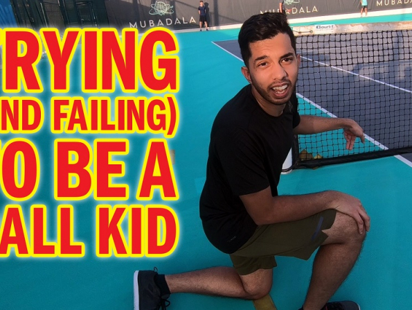 Learning how to be a ball kid for the Mubadala Tennis World Championship
