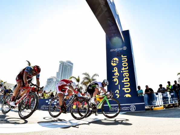 Watch cycling superstars ride the roads of Abu Dhabi