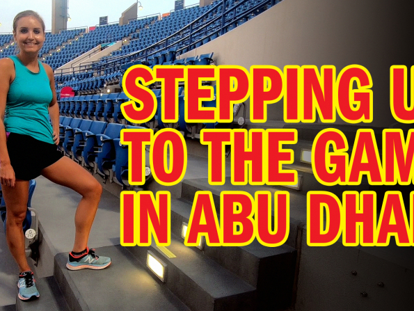 Taking the step challenge at Zayed Sports City