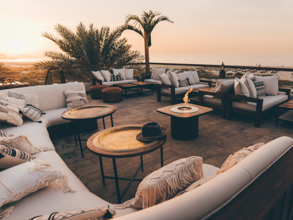 A stunning new beachfront lounge has opened at Park Hyatt Abu Dhabi Hotel & Villas