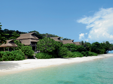 An island getaway in Indonesia