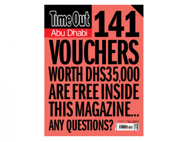 It's back! Time Out Abu Dhabi's massive voucher issue has returned