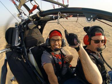 Paramotor ride in Abu Dhabi