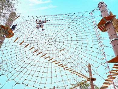 Aventura assault course in Mushrif Park