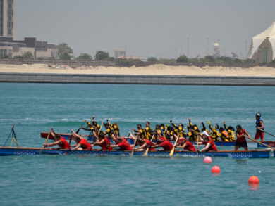 Abu Dhabi dragon boat racers are looking for members