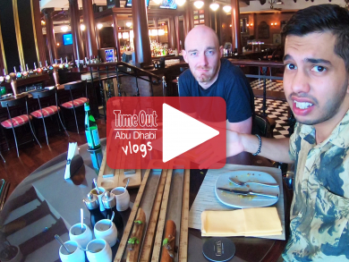 Time Out Abu Dhabi takes on metre-long sausages at Cooper's