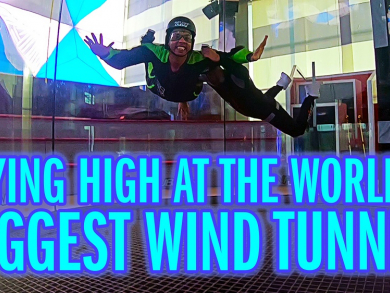 Win two flights at the world's biggest wind tunnel