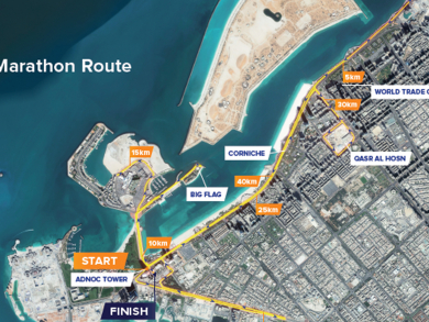 Be aware of road closures for Abu Dhabi Marathon