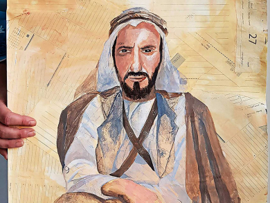 Tireless artist celebrates Year of Zayed with daily tributes