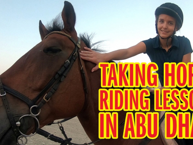 We try horse riding in Abu Dhabi - and you can win a lesson too