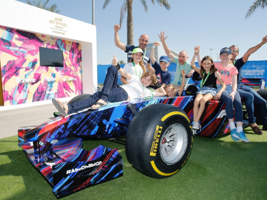 Abu Dhabi Grand Prix fans get into the spirit with family fun day