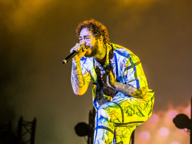 Post Malone at Abu Dhabi F1 Grand Prix 2018 – in pictures