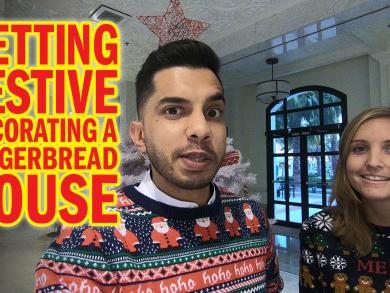 Create beautiful Christmas gingerbread houses in Abu Dhabi