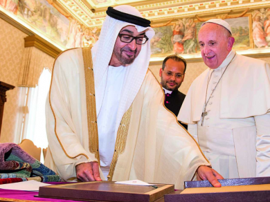 Holiday announced for private sector workers going to Pope Francis' mass in Abu Dhabi
