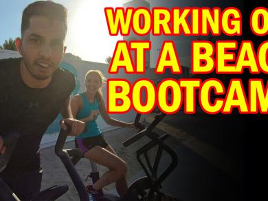 We work out at Abu Dhabi's beach bootcamp