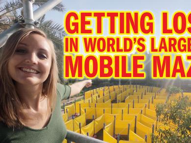 Getting lost in Abu Dhabi's Wonder Maze