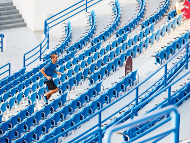 Step challenge relaunches in Abu Dhabi International Tennis Stadium
