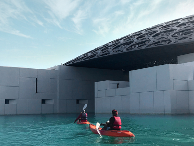 You can now kayak around Louvre Abu Dhabi