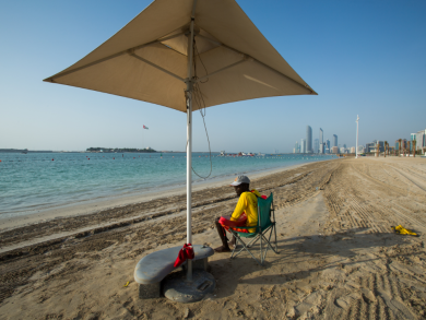 Two free things to do this week in Abu Dhabi: Hit the beach and check out an exhibition