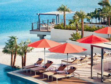 Check out this awesome deal on passes to the Grand Hyatt Abu Dhabi's amazing infinity pool
