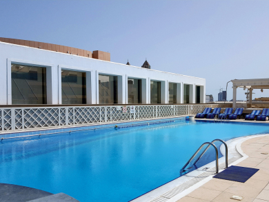 Get lunch, pool access and a drink for Dhs129 at the Crowne Plaza Abu Dhabi