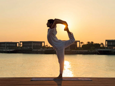 You can now book a yoga retreat at one of Abu Dhabi's most exclusive island resorts