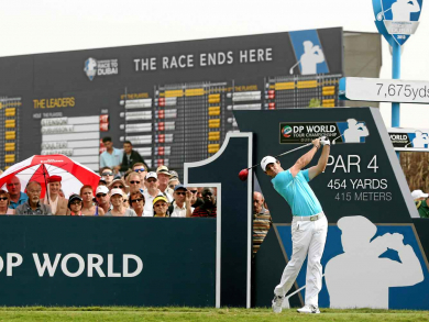 Golf's DP World Tour Championship in numbers