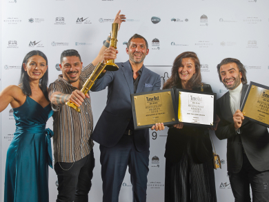 The winners at the Time Out Abu Dhabi Restaurant Awards 2019 celebrate