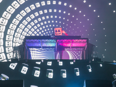 In pictures: Marshmello at the Abu Dhabi Grand Prix 2019