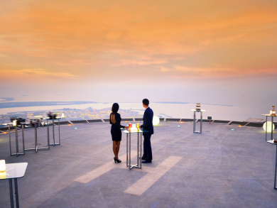 Start 2020 with bubbly on a helipad at The St. Regis Abu Dhabi