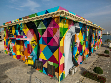 Abu Dhabi is now home to the largest public art mural in the region
