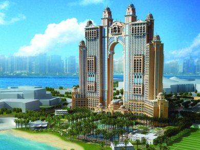The luxury Fairmont Marina Abu Dhabi hotel is set to open this year