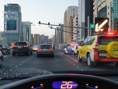 Both vehicles will be fined for tailgating with Abu Dhabi's new radar system