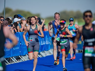 The ITU World Triathlon Series is coming back to Abu Dhabi in March