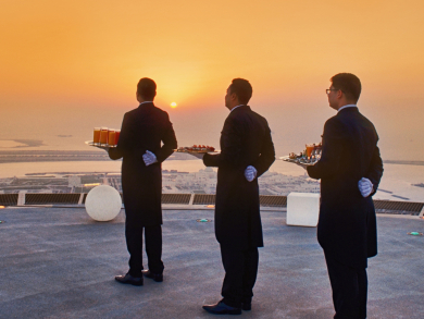 Celebrate Valentine's Day in Abu Dhabi with dinner on a helipad