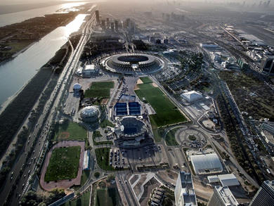 A drive-through testing centre has launched in Abu Dhabi at Zayed Sports City