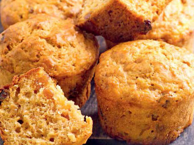 Recipe: Pistachio, cardamom and carrot muffins with orange glaze