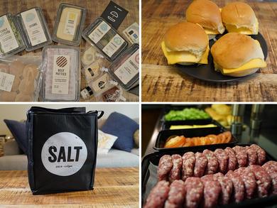 Unboxing SALT's enormous DIY burger kits at home