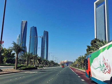 How to get the bus from Abu Dhabi to Dubai